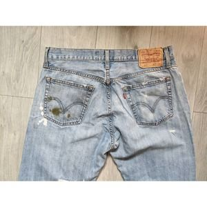 Levi's 517 Low Bootcut Destroyed Jeans